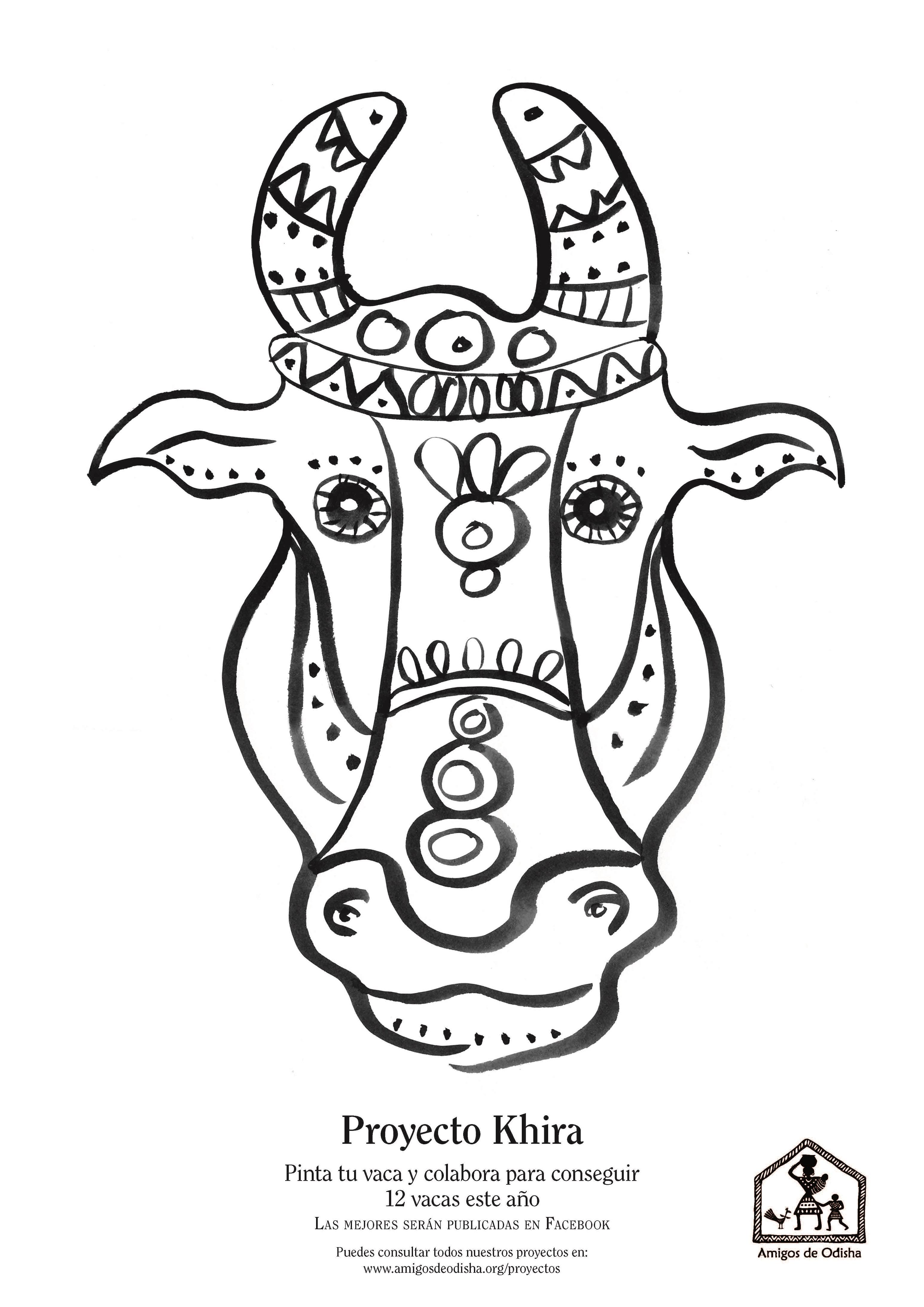 Campaña Pinta tu vaca. Proyecto Khira - Amigos de Odisha