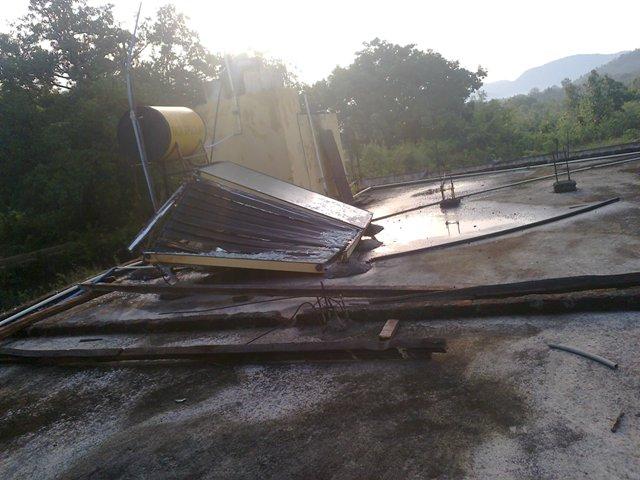 """""""Ciclón"""" en la zona de Pasara"""
