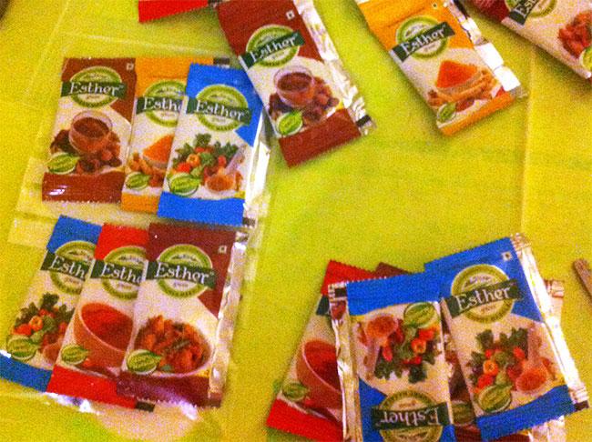 Packs de especias de Odisha