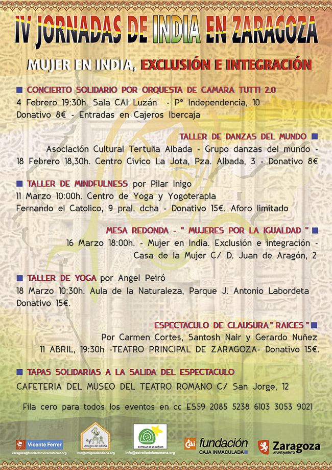 IV Jornadas de India en Zaragoza (febrero-abril 2017)