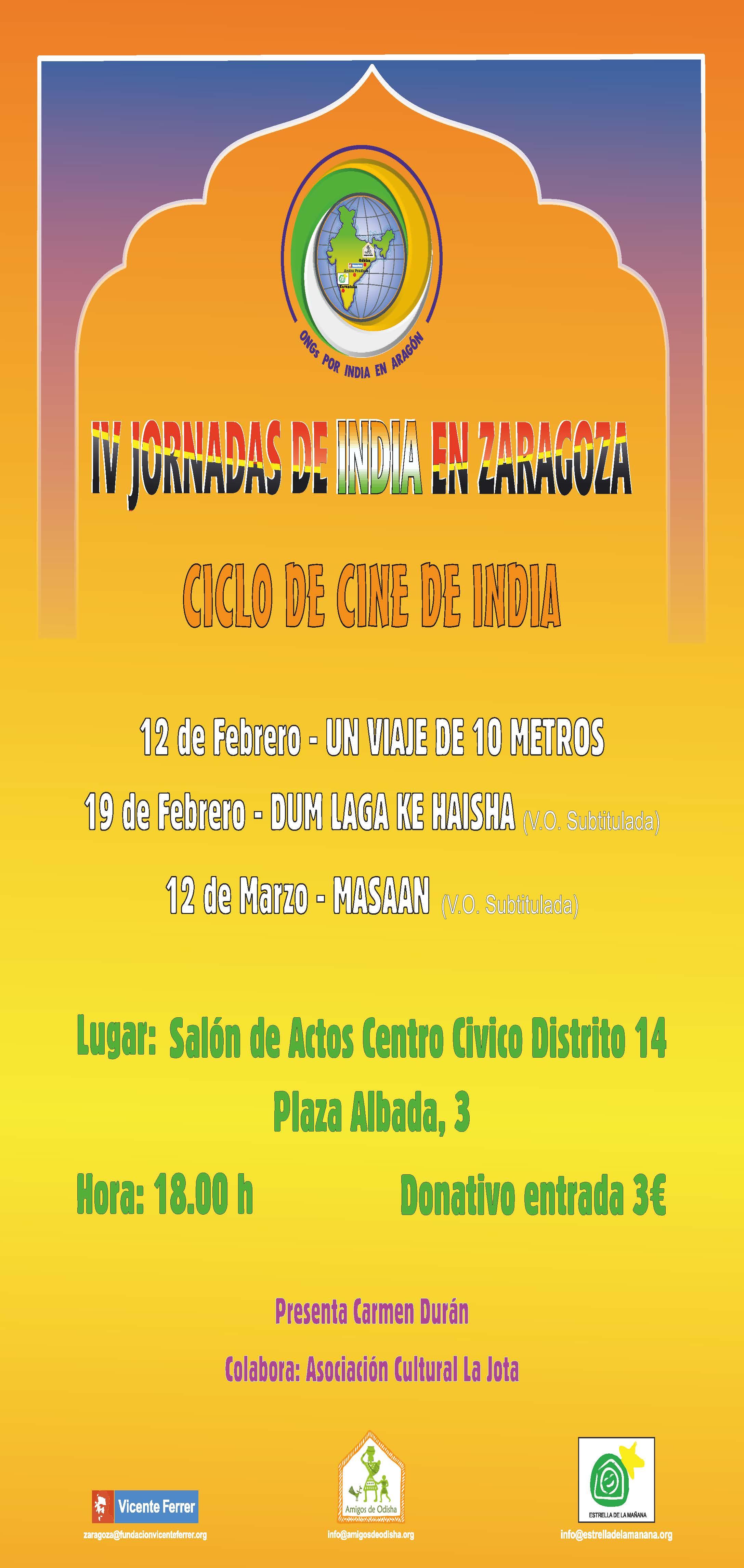 Ciclo de cine de India en Zaragoza