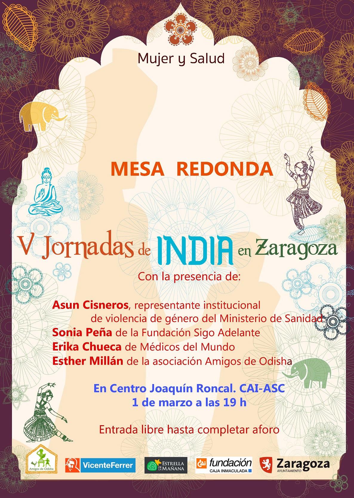 V Jornadas de India en Zaragoza. Eventos