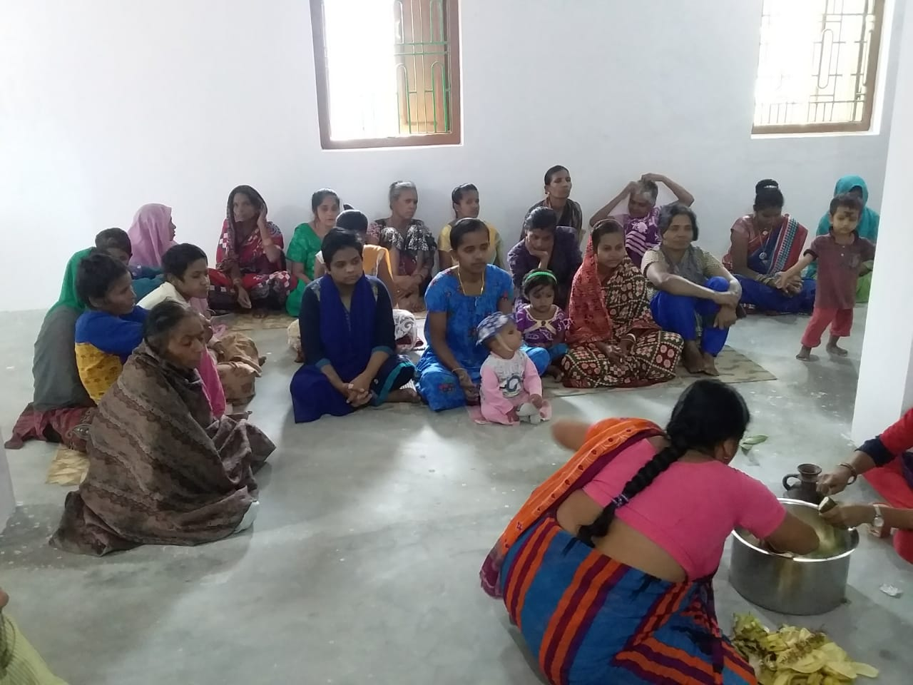 Nuevo edificio en centro de mujeres. Gopalpur on Sea
