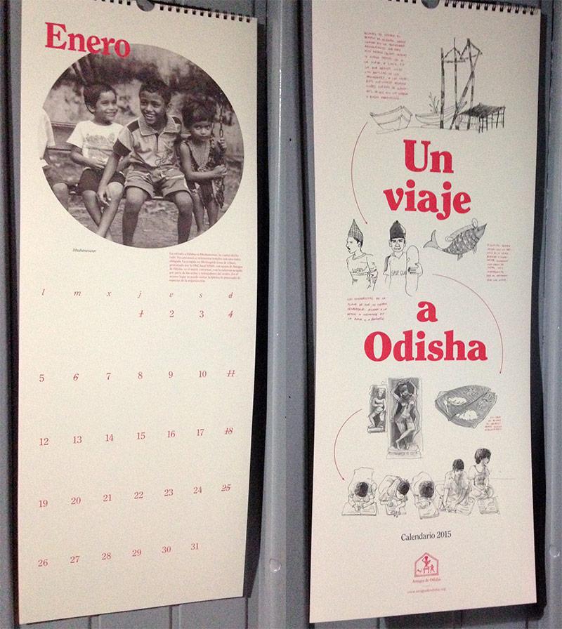 Calendarios de pared solidarios 2015