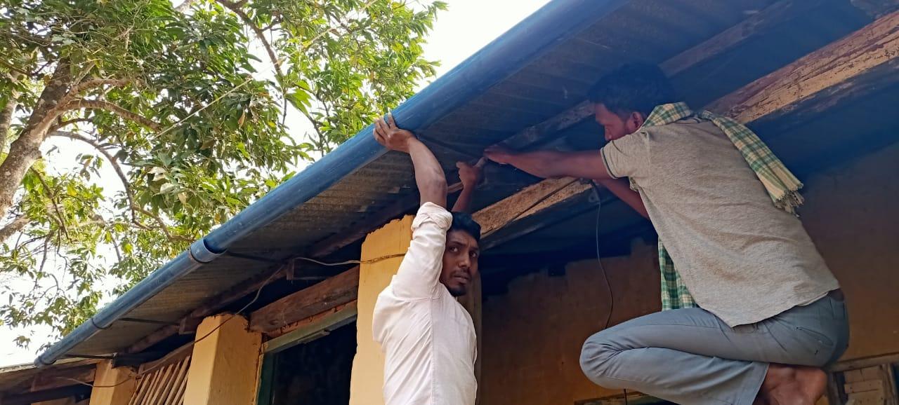 Agua en G. Udayagiri. Proyecto en marcha